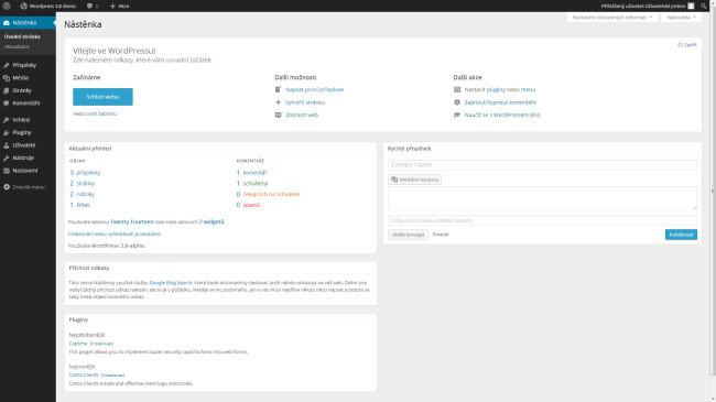 Wordpress vzhled Základní