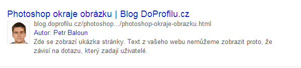 AuthorShip google ukázka