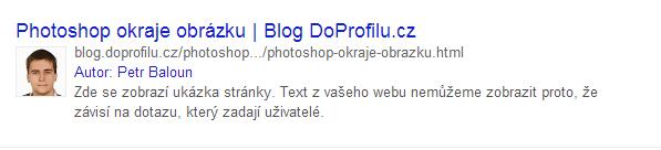 AuthorShip google ukázka