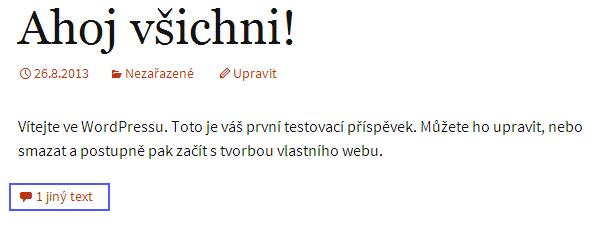 Ukázka přenastavení pluginu České komentáře