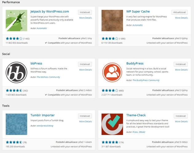 Wordpress 4.0 ikony pluginů