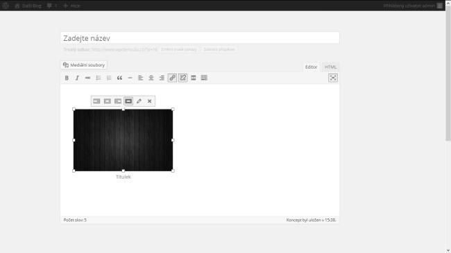 Wordpress režim nerušeného psaní