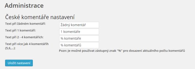 Administrace České komentáře