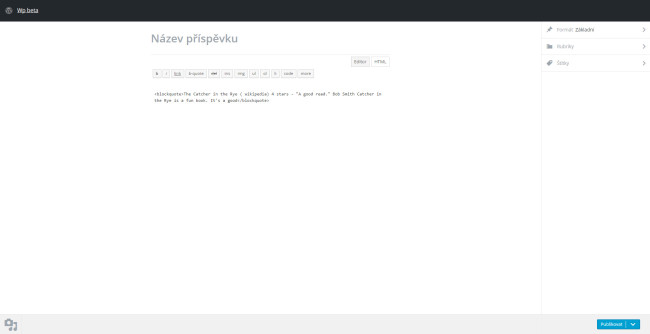 HTML kliknout a publikovat