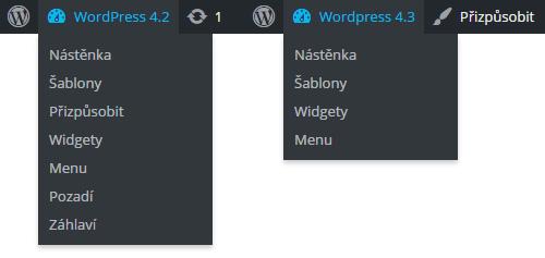 Navigační lišta OwrdPress 4.3