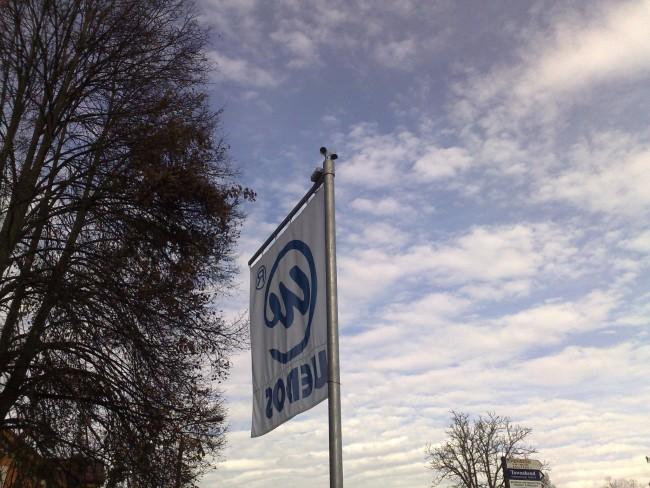 Vlajka Wedos staveniště