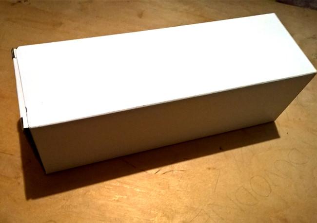 Krabice v které je samotná lahev