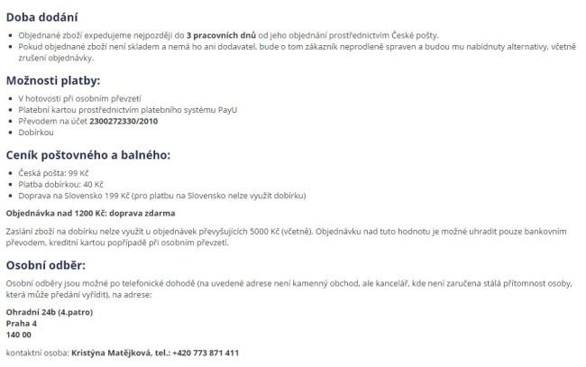 Platba a doprava Labeloo.cz