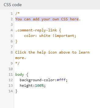 Podbarvení kódu při uprávách CSS