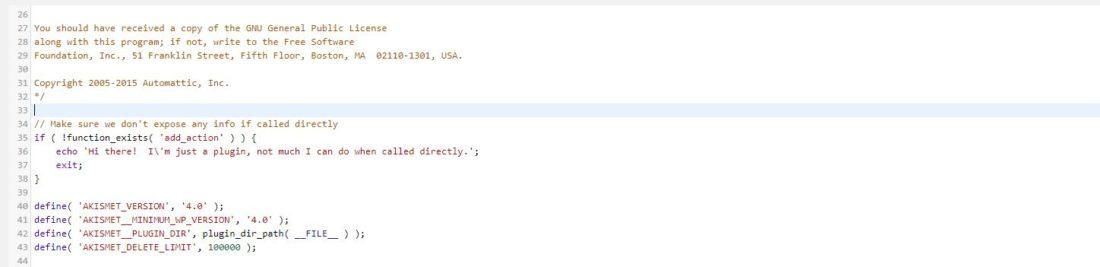 Úprava kódu pluginu ve WordPressu 4.9